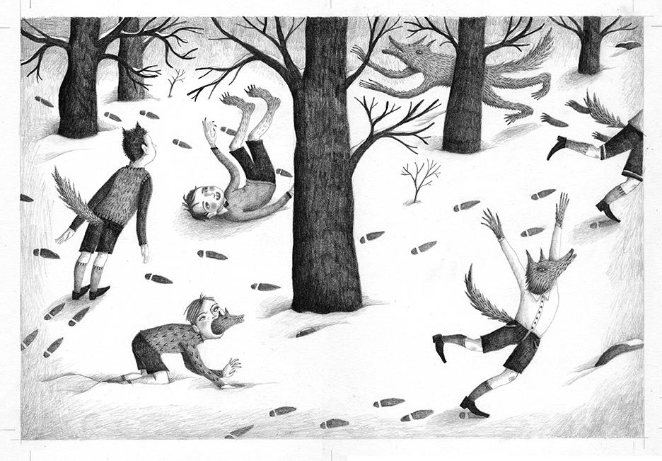 Los «niños lobo», ilustración de Ana Sender.