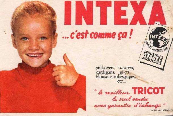 Lucile Poirier en uno de los anuncios para los que posó (imagen sin autoría).