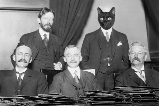 Kaspar Schwarz, a la dreta de la foto, durant la seva vida com Gerald S. Miller (imatge recollida al llibre de Carles Pradas).