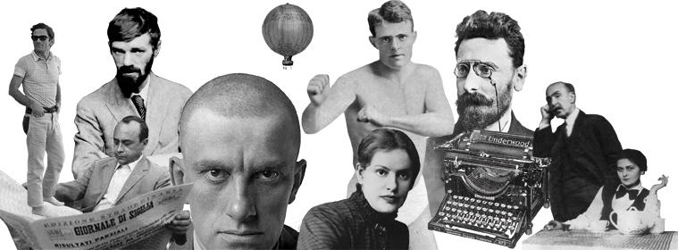 Rostros que forman parte del catálogo y de la estética de la editorial (fotomontaje: Gallo Nero).